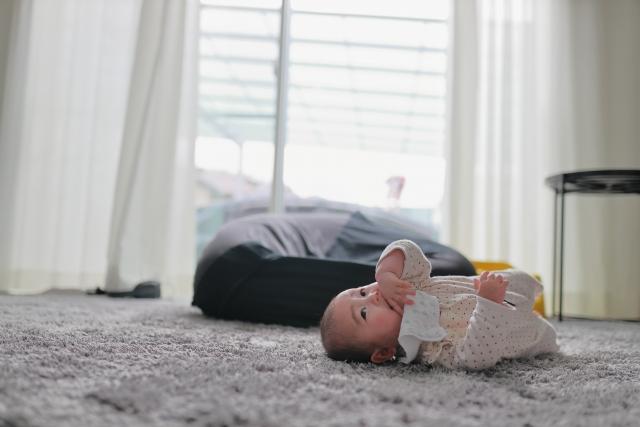赤ちゃんが絨毯に嘔吐したときはパストリーゼが効果的!食べこぼしにも!